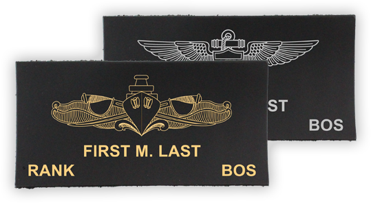 Leather Name Tag Builder for Flight Suit Name Tags